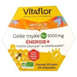 Vitaflor Gelée Royale Bio 1000mg Energie+ 20 ampoules