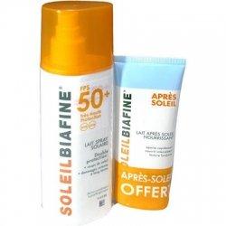 Soleil Biafine Lait Spray Solaire SPF 50+ 200ml + Lait Après Soleil Nourrissant 50ml