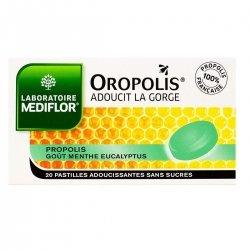 Mediflor Oropolis Pastilles Menthe Eucalyptus Sans Sucre 20 pastilles