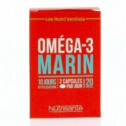 Nutrisanté Les Nutri'sentiels Oméga-3 Marin 20 capsules