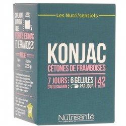 Nutrisanté Nutri'Sentiels Konjac & Cétones de Framboises 42 gélules