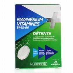 Nutrisanté Magnésium + Vitamines B1 B2 B6 24 Comprimés Effervescents