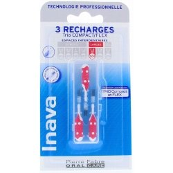 Inava Brossettes 3 Recharges Large 4 - 3mm Rouge
