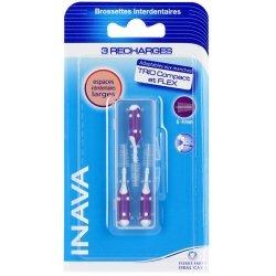 Inava Brossettes 3 Recharges Large 6 - 4mm Violet