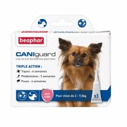 Beaphar Caniguard Pipettes Antiparasitaires pour Petits Chiens 3x2ml