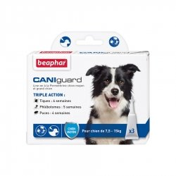 Beaphar Caniguard Pipettes Antiparasitaires pour Chiens Moyens 3x4ml