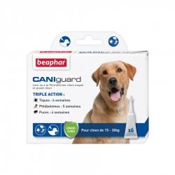 Beaphar Caniguard Pipettes Antiparasitaires pour Grands Chiens 6x4ml