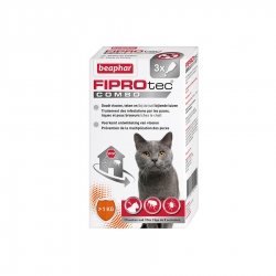 Beaphar Fiprotec Combo Pipettes Antiparasitaires pour Chats & Furets 3x0,5ml