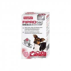Beaphar Fiprotec Combo Pipettes Antiparasitaires pour Petits Chiens 3x0,67ml