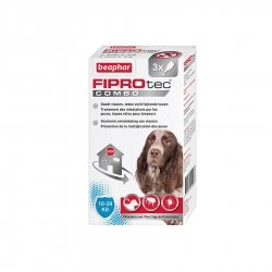 Beaphar Fiprotec Combo Pipettes Antiparasitaires pour Chiens Moyens 3x1,34ml