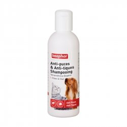 Beaphar Anti-Puces et Anti-Tiques Shampoing pour Chiens & Chats 200ml