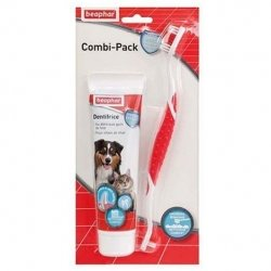 Beaphar Combi-Pack Dentifrice & Brosse pour Chien & Chat