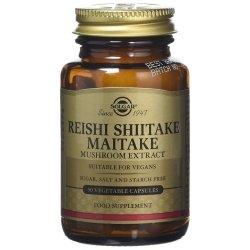 Solgar Reishi Shiitake Maitake 50 capsules végétales