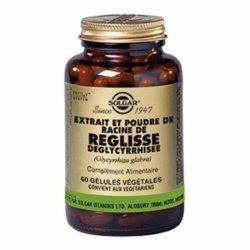 Solgar Extrait et Poudre de Racine de Reglisse Deglycyrrhisee 60 gélules végétales