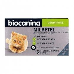 Biocanina Milbetel Vermifuge Petit Chat et Chaton de 0,5 à 2kg 2 comprimés