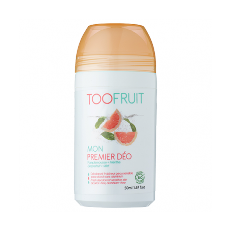 Toofruit Mon Premier Déo Pamplemousse Menthe Roll-On 50ml