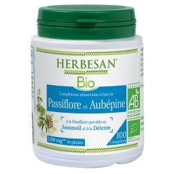 Herbesan Phyto Passiflore Aubépine Bio 100 comprimés