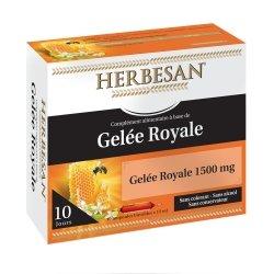 Herbesan Gelée Royale 1500mg 10 ampoules de 15ml