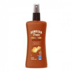 Hawaiian Tropic Spray Solaire SPF15 Golden Tint Hâle Naturel 200ml