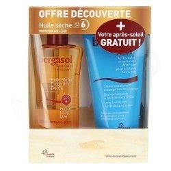 Bergasol Coffret Huile Sèche SPF6 125ml + Après-Soleil 150ml GRATUIT