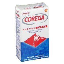 Corega Poudre Super Adhésive pour Appareils Dentaires 50g