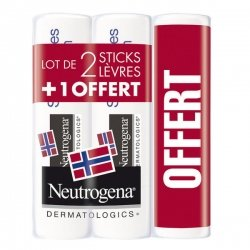 Neutrogena Sticks Lèvres Lot de 2+1 OFFERT