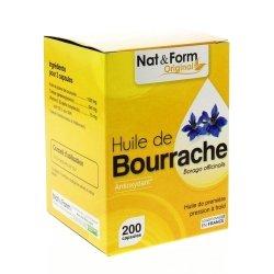 Nat & Form Huile de Bourrache 200 capsules