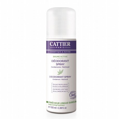 Cattier Brume Active Cardamome - Patchouli 100ml