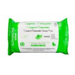 Alphanova Bébé Lingettes Nettoyantes Biodégradables Bio 60 lingettes