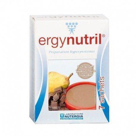 Nutergia Ergynutril Entremets Hyperprotéiné Poire Chocolat 7 sachets