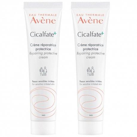 Avene Duo Pack Cicalfate crème réparatrice anti-bactérienne tube 2x100ml