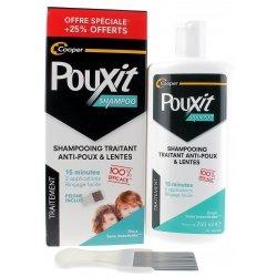 Pouxit Shampooing Traitant Anti-Poux & Lentes 250ml + Peigne Inclus