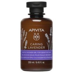 Apivita Caring Lavender Gel Douche Doux pour Peaux Sensibles 250ml