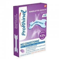 ProRhinel Bandelettes Nasales Sensitive 10 unités