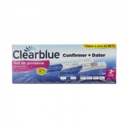 Clearblue Test de Grossesse Format Duo Confirmer + Dater