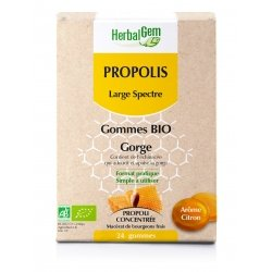 Herbalgem Propolis Large Spectre Gommes Bio 24 gommes
