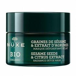 Nuxe Bio Organic Graines de Sésame & Extrait d'Agrumes Masque Détoxifiant Eclat 50ml