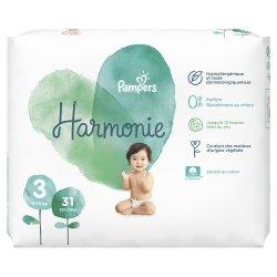 Pampers Harmonie T3 6-10kg Géant 31 unités