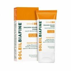 Soleil Biafine Emulsion Solaire Visage Toucher Doux SPF50 50ml