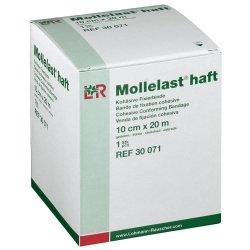 Mollelast haft bande de fixation cohesive blanche 10cmx20m *14437