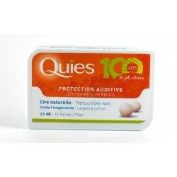 Quies Protection Auditive Cire Naturelle 12 Paires