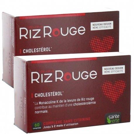 Santé Verte Levure de Riz Rouge Cholestérol 2x60 comprimés
