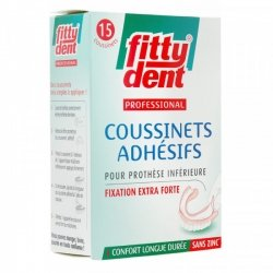 Fittydent Professionnal Coussinets Adhésifs 15 pièces