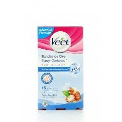 Veet Easy-Gelwax Technology Bande de Cire Peaux Sensibles 16 pièces