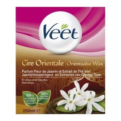 Veet Cire Orientale Parfum Fleur de Jasmin et Extrait de Thé Vert 250ml