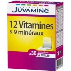 Juvamine 12 Vitamines + 9 Minéraux 30 comprimés