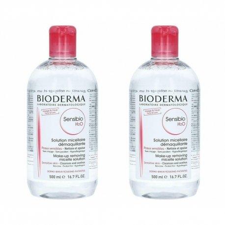 Bioderma Sensibio H2O Solution Micellaire Peaux Sensibles 2 x 500ml