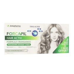Arkopharma Forcapil Hair Activ Promo 3 mois 3x30 Comprimés