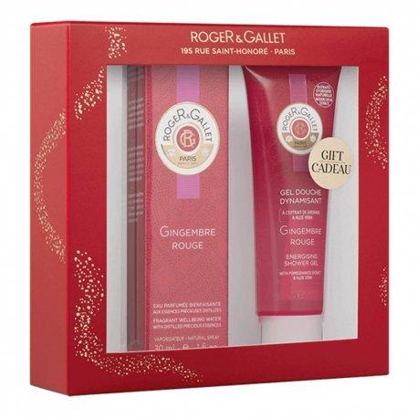 Roger & Gallet Coffret Gingembre Rouge Eau Parfumée Bienfaisante 30ml + Cadeau Gel Douche Dynamisant 50ml