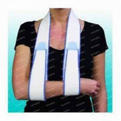 Looping bande à fixer - écharpe/redresse-dos & bandage d'adduction bras/thorax mousse 180cm nr3